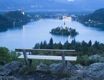 Opinião sangrada do lago Imagem de Stock Royalty Free