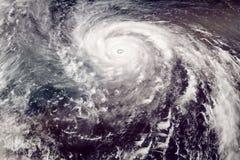 Opinião satélite do tufão da categoria 5 foto de stock royalty free