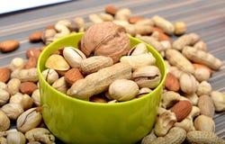 Opinião seca do close up dos frutos na tabela Fotografia de Stock