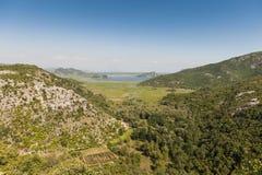 Opinião skadar de parque nacional do lago imagens de stock royalty free