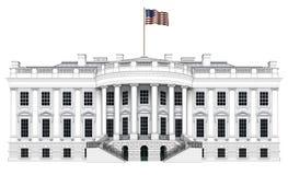 Opinião sul da casa branca Imagens de Stock