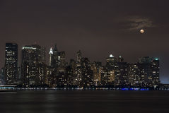 Opinião sul de Manhattan de New-jersey Fotografia de Stock