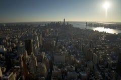 Opinião sul de New York City fotografia de stock