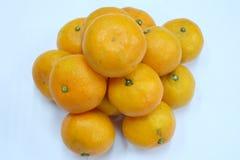 Opinião superior as laranjas Fotos de Stock Royalty Free