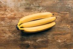 opinião superior bananas maduras frescas Fotografia de Stock Royalty Free