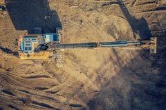 Opinião superior da máquina escavadora Fotografia de Stock
