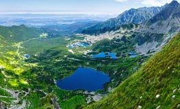 Opinião superior da montanha de Tatra do verão, Polônia foto de stock