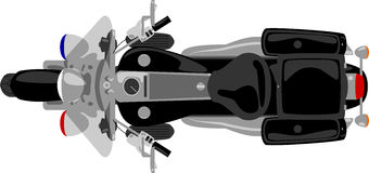 Opinião superior da motocicleta da polícia ilustração royalty free