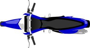 Opinião superior da motocicleta do motocross ilustração royalty free