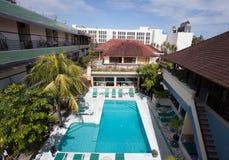 Opinião superior da piscina Imagem de Stock Royalty Free