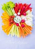 Opinião superior da placa dos vegetais Imagem de Stock