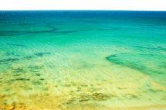 Opinião superior da praia e do mar Foto de Stock Royalty Free