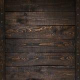 Opinião superior da textura de madeira escura das pranchas Fotografia de Stock Royalty Free
