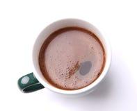 Opinião superior da xícara de café Imagem de Stock Royalty Free