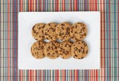 Opinião superior das cookies do biscoito Imagem de Stock Royalty Free