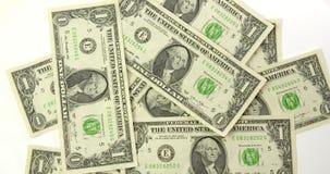 Opinião superior das notas de dólar dos E.U. filme
