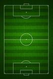 Opinião superior de campo de futebol com marcações padrão Fotos de Stock