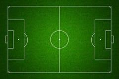 Opinião superior de campo de futebol com marcações padrão Fotografia de Stock Royalty Free