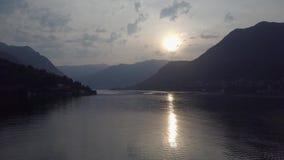 Opinião superior de Como Itália do lago vídeos de arquivo