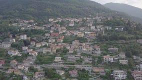 Opinião superior de Como Itália do lago filme