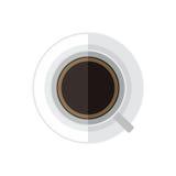 Opinião superior de copo de café do vetor Imagens de Stock Royalty Free