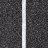 Opinião superior de estrada asfaltada com linha branca Fotografia de Stock Royalty Free