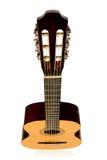 Opinião superior de guitarra acústica Imagens de Stock Royalty Free