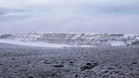 Opinião superior de Kilimanjaro com geleira Foto de Stock Royalty Free