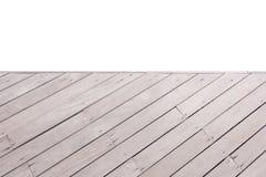 Opinião superior de madeira da ponte vazia Imagem de Stock Royalty Free