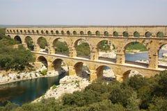 Opinião superior de Pont du gard Fotografia de Stock