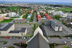 Opinião superior de Reykjavik Fotos de Stock Royalty Free