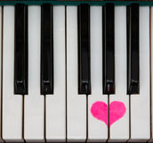 Amor do teclado de piano Fotos de Stock Royalty Free