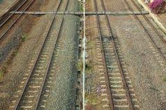 Opinião superior de trilha Railway Fotos de Stock
