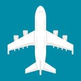 Opinião superior do avião liso do projeto Fotografia de Stock