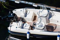 Opinião superior do barco a motor Imagens de Stock