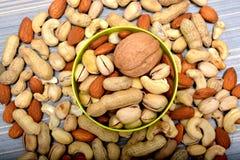 Opinião superior do close up seco dos frutos - alimento do inverno Imagem de Stock Royalty Free