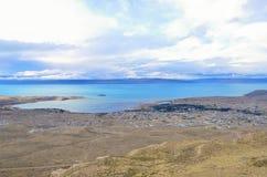 Opinião superior do EL Calafate Nuvem sonhadora mágica da paisagem da natureza do por do sol da noite no céu no Patagonia Fotos de Stock