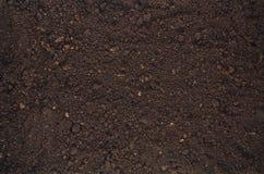 Opinião superior do fundo fértil da textura do solo do jardim foto de stock