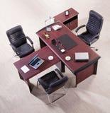 Opinião superior do mobiliário de escritório fotografia de stock royalty free