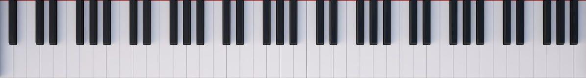 Opinião superior do piano do teclado Imagens de Stock Royalty Free