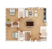 Opinião superior do plano da casa Imagem de Stock