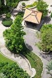 Opinião superior do trajeto do jardim Foto de Stock