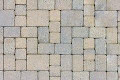 Opinião superior dos Pavers da pedra do pátio do jardim Imagem de Stock