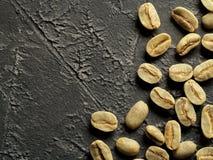 Opinião superior feijões de café verdes Imagem de Stock Royalty Free