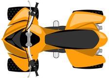 Opinião superior isolada bicicleta do quadrilátero ilustração stock