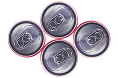 Opinião superior Tin Cans Foto de Stock Royalty Free