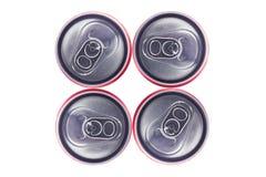 Opinião superior Tin Cans Imagem de Stock