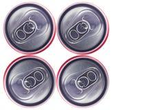Opinião superior Tin Cans Fotos de Stock