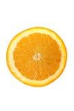 Opinião superior uma laranja cortada metade Fotos de Stock