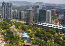 Opinião surpreendente da cidade no centro de Kuala Lumpur Fotografia de Stock Royalty Free